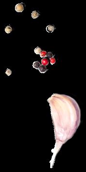 Raw flavoring sources (berries, seeds, garlic clove, etc.).