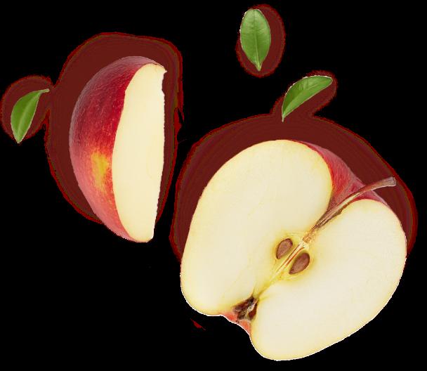 Sliced apples.