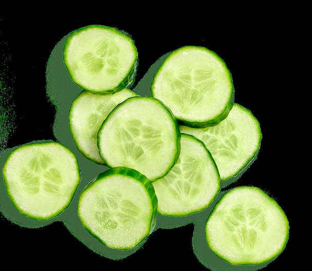 Cucumber slices.