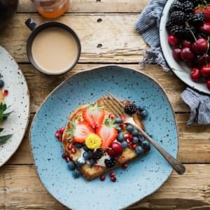 French toast with fresh fruit.
